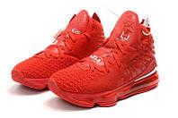 Баскетбольные кроссовки Nike Lebron 17 красные