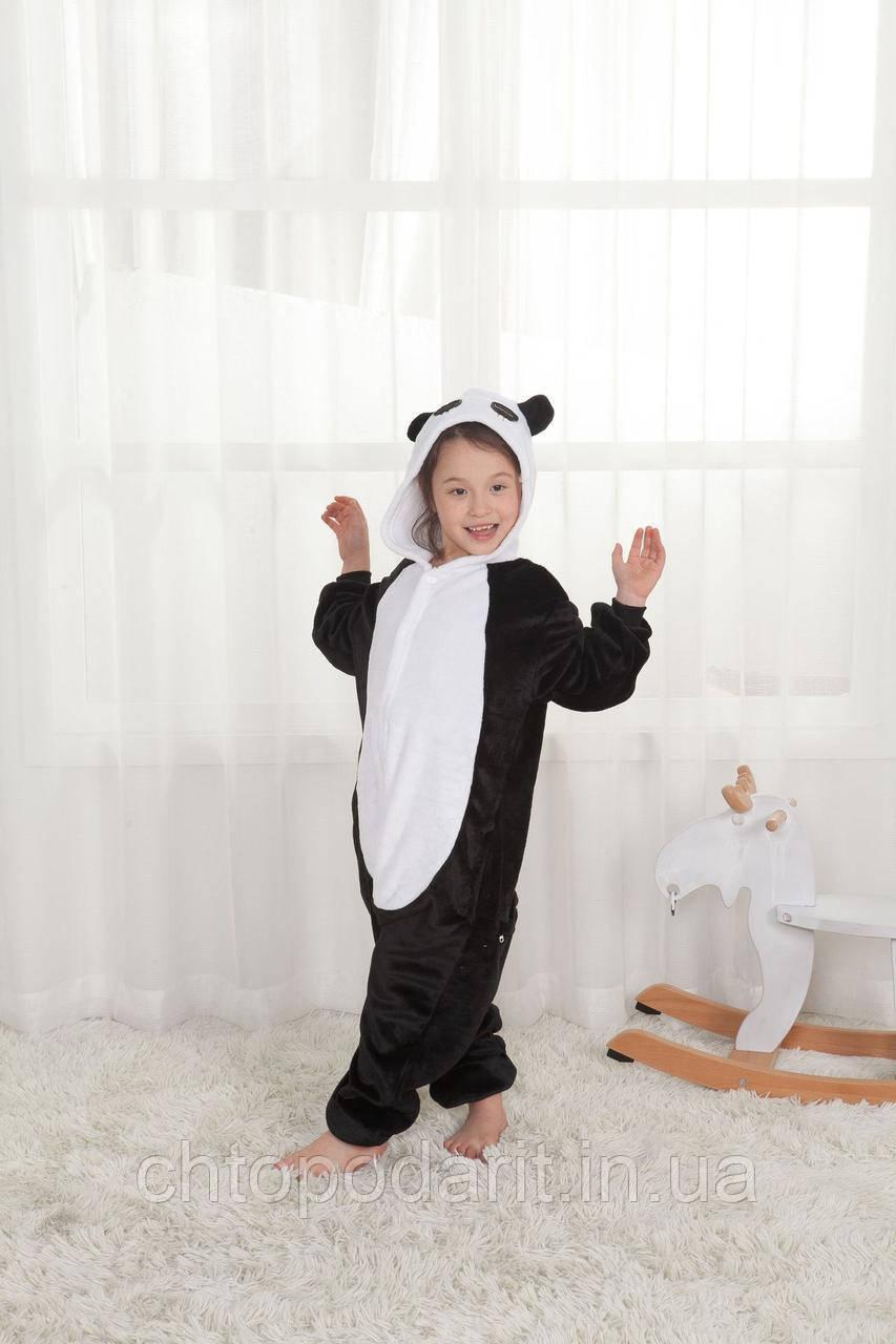 "Пижама Кигуруми детский ""Панда"" черный окрас Код 10-4162"