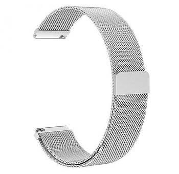 Миланский сетчатый ремешок Primo для часов Garmin Vivoactive 3 / Vivomove HR / Forerunner 245/645 - Silver