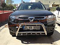 Дуга передняя кенгур 70D низкий на Dacia Duster 2010-2018 Кенгурятник передний низкий Дачия Дастер 2010-2018