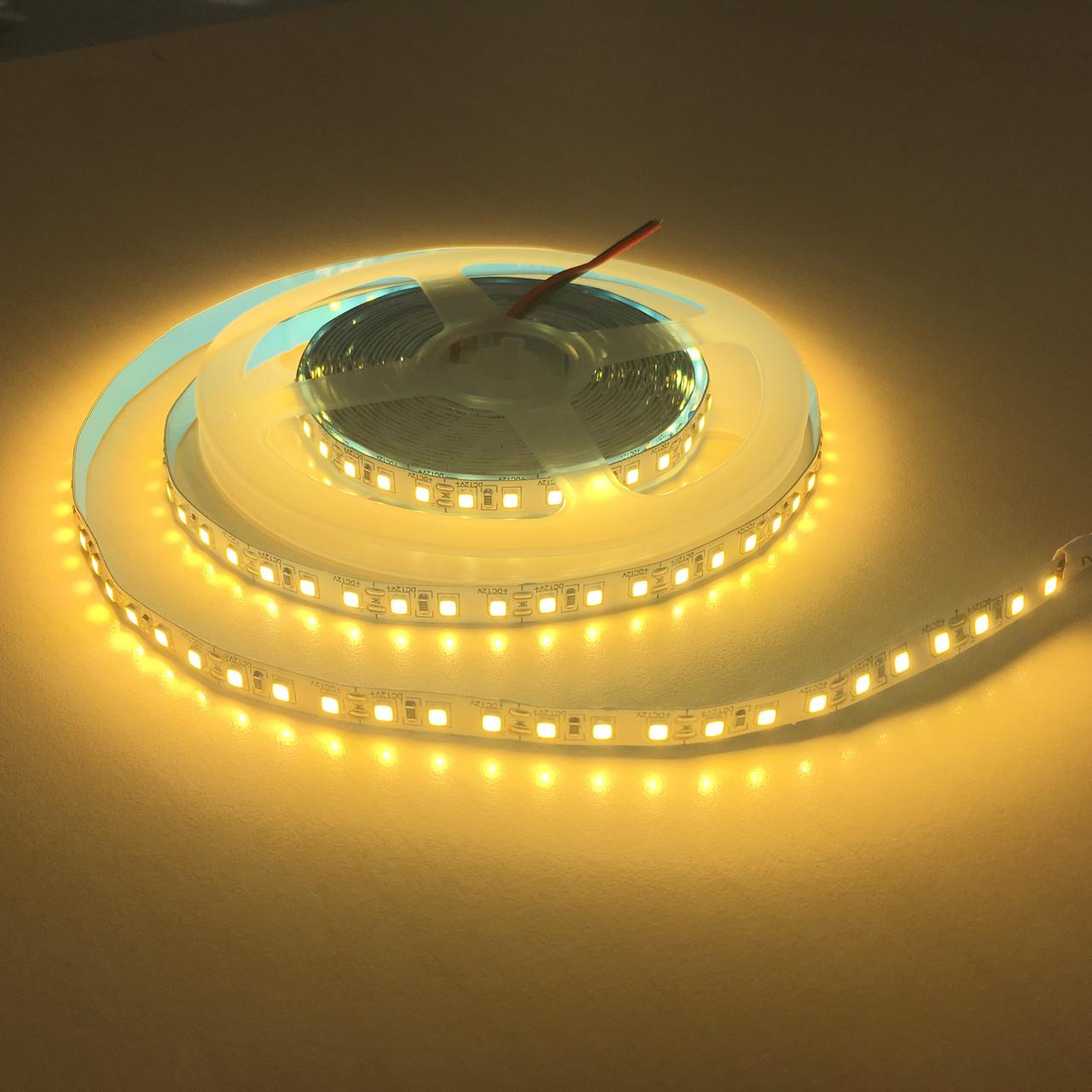 Светодиодная лента LED 3528-120 12V IP33 теплая СТАНДАРТ