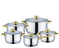 Набор посуды Maestro MR-2006. Золотые ручки