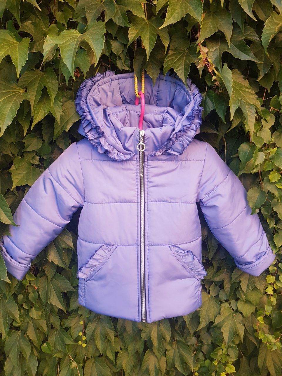 Куртка для девочек на флисе 86-104 размеры (0110/27)