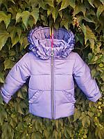 Куртка для девочек на флисе 86-104 размеры (0110/27), фото 1