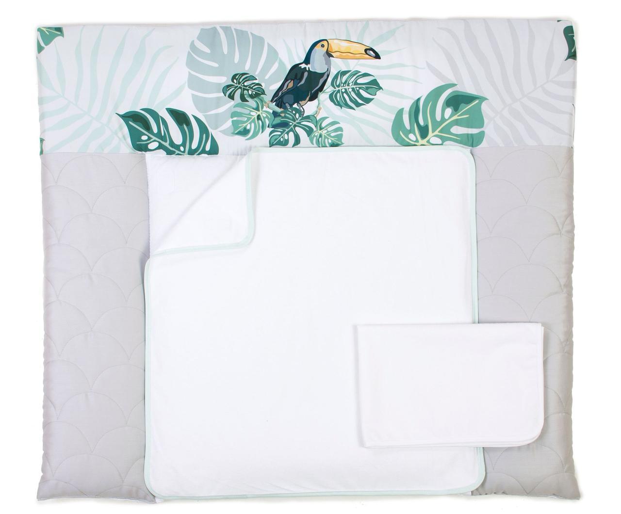 Пеленальный матрас для новорожденных тканевый Veres Tropic baby