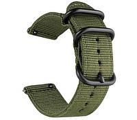 Нейлоновый ремешок Primo Traveller для часов Garmin Vivoactive3 / VivomoveHR / Forerunner 245/645 - Army Green, фото 1