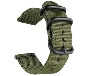 Нейлоновый ремешок Primo Traveller для часов Garmin Vivoactive3 / VivomoveHR / Forerunner 245/645 - Army Green