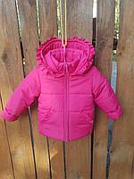 Куртка для девочек на флисе 86-104 размеры (0110/29), фото 1