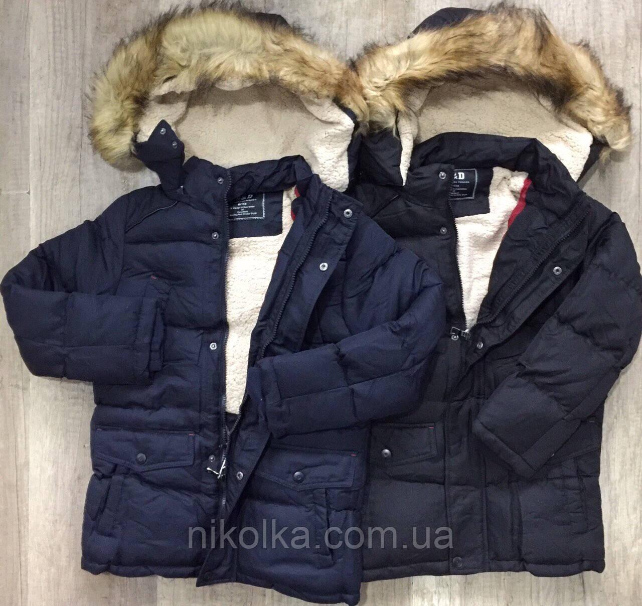 Куртки на меху для мальчиков оптом, S&D, 6-16 лет, арт. KF-35