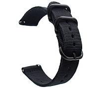 Нейлоновый ремешок Primo Traveller для часов Garmin Vivoactive 3 / Vivomove HR / Forerunner 245/645 - Black, фото 1