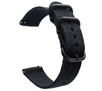 Нейлоновый ремешок Primo Traveller для часов Garmin Vivoactive 3 / Vivomove HR / Forerunner 245/645 - Black