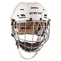 Шлем CCM TACKS 110 с решеткой, Размер L, белый, T110C-W-L