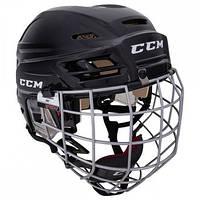 Шлем CCM TACKS 110 с решеткой, Размер L, черный, T110C-B-L