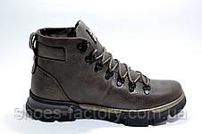 Кожаные мужские ботинки Ботус, зимние с мехом (Brown), фото 2