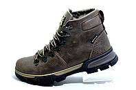 Кожаные мужские ботинки Ботус, зимние с мехом (Brown)