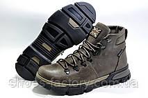 Кожаные мужские ботинки Ботус, зимние с мехом (Brown), фото 3