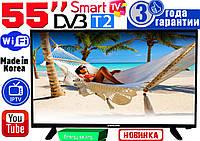 "НОВЫЕ телевизоры Samsung SmartTV Slim 55"" 4K 3840x2160,LED, IPTV, Android, T2, WIFI, USB, КОРЕЯ"