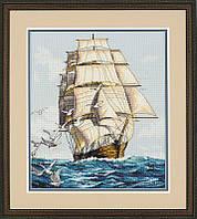 """Набор для вышивания крестом """"Clipper Ship Voyage//Морское путешествие"""" DIMENSIONS"""