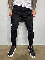 Мужские джинсы зауженные черные Black Island 6017-3433, фото 1