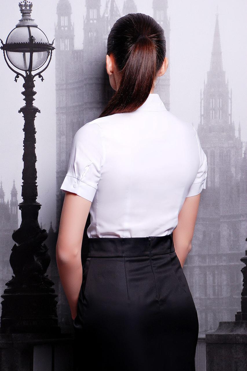 54ad0e94d34 ... Белая классическая блузка короткий рукав для школы или офиса р.XS