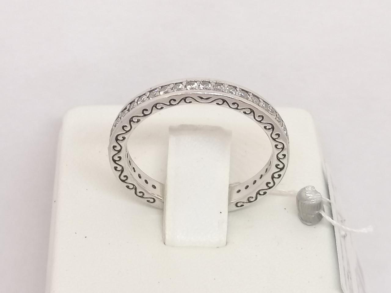 Серебряное кольцо с фианитами. Артикул 3212691401 18,5