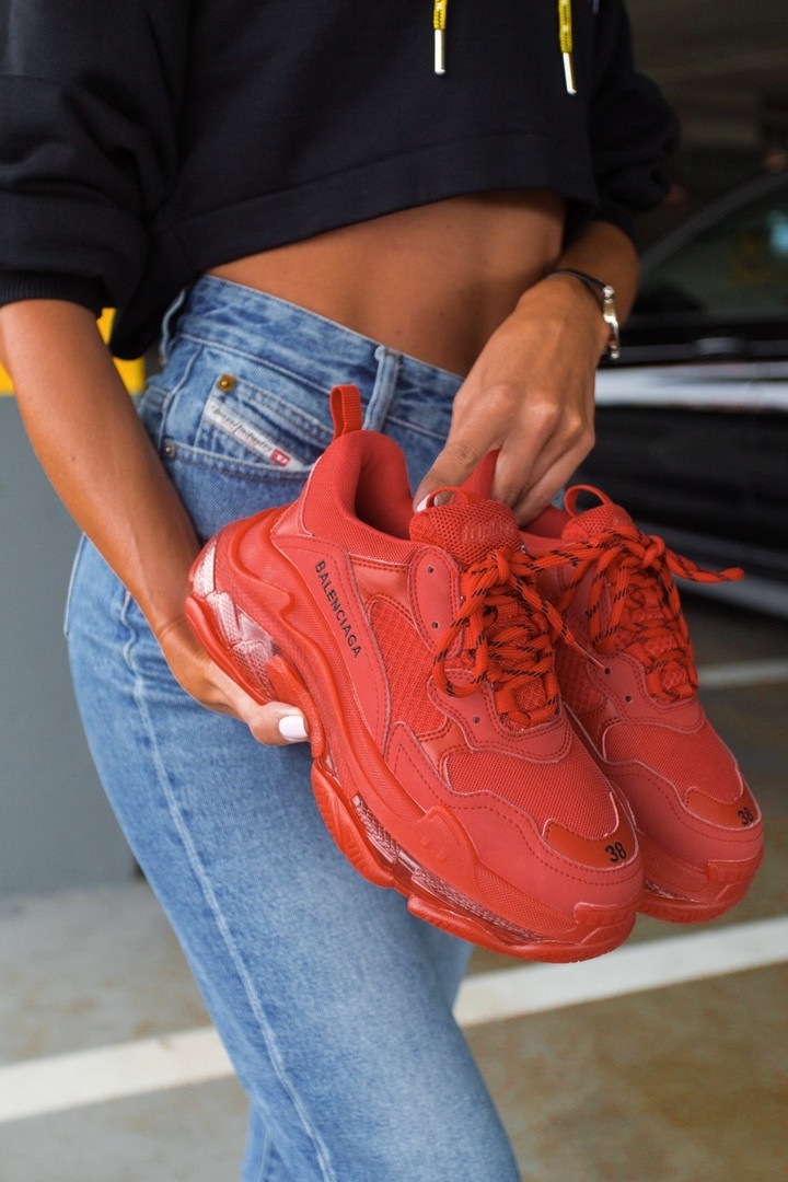 "Кроссовки Balenciaga Triple S ""Red"""