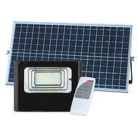 Светодиодный прожектор 150W на солнечной батарее с пультом. Фонарь солнечный 6500К