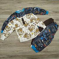 Пижама детская с начёсом 84 р мальчик ТОД-370042