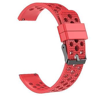 Спортивный ремешок с перфорацией Primo для часов Garmin Vivoactive 3 / Vivomove HR / Forerunner 245/645 - Red