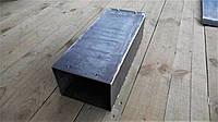Труба прямоугольного дымохода, длинна 0,5 метра, черный металл 3 мм
