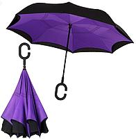 Зонт обратного сложения Up-brella | Ветрозащитный зонт, фото 2