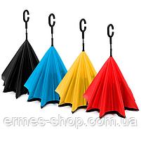 Зонт обратного сложения Up-brella | Ветрозащитный зонт, фото 3