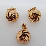 Кулон и серьги. Набор украшений из медицинского золота, фото 2