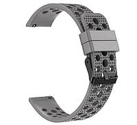 Спортивный ремешок с перфорацией Primo для часов Garmin Vivoactive 3 / Vivomove HR / Forerunner 245/645 - Grey, фото 1