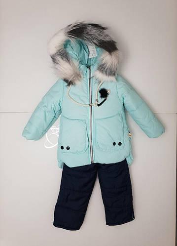 Зимний комбинезон и куртка на овчине для девочки 86-104 р