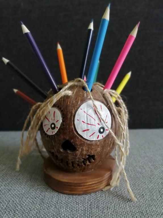 Подставка для канцелярии (карандашей)_кокос. hand-made