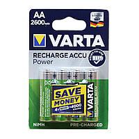 Аккумуляторы Varta AA (HR6) 2600 mAh NiMh 1.2V, 4шт