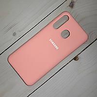 Чехол Silicone Case Samsung Galaxy A20 (2019) Розовый, фото 1