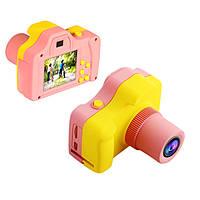 """Детская Цифровая Фотокамера UrbanKids с 1.77""""-дюймовым дисплеем для фото-и видеосъёмки Розовый с жёлтым"""