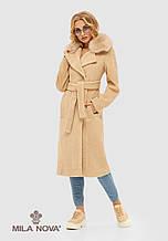 🍁❄️Демисезонное (еврозима) женское пальто из альпаки (беж)