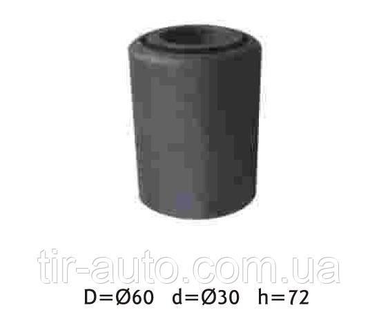 Сайлентблок рессоры BPW 30х60х72 ( SEM LASTIK ) SEM 8025