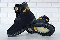 Зимние мужские ботинки Caterpillar с мехом black