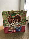 Подарочный бумажный пакет КВАДРАТ 24*24*10 см Собака, фото 2