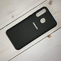 Чехол Silicone Case Samsung Galaxy A20 (2019) Черный, фото 1