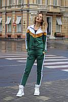 Женский осенний спортивный костюм на молнии бутылка сирень 42-44 44-46, фото 1