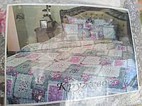Комплект постельного белья двуспальный 100% хлопок байка Тиротекс сублимация Кружево