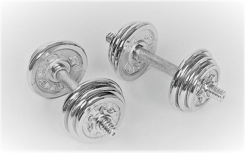 Гантели наборные хромированные 2 шт по 6,5 кг