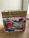 Подарочный бумажный пакет КВАДРАТ ''Тачки'' (24*24*10), фото 4