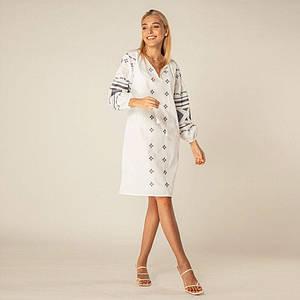 Вышитое платье Мелани белого цвета