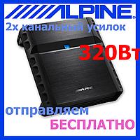 Звуковой автомобильный усилитель ALPINE PMX-T320 (2*75 Вт на 2 Ом, 320 Вт макс.)